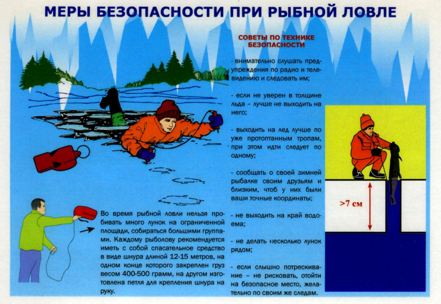 tehnika bezopasnosti na ldu vo vremya zimnej rybalki
